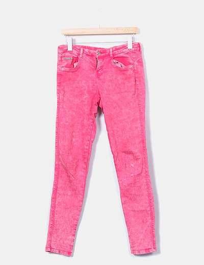 Pink skinny denim jeans Bershka