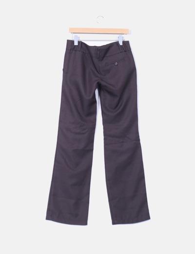 Pantalon chino marron dos botones