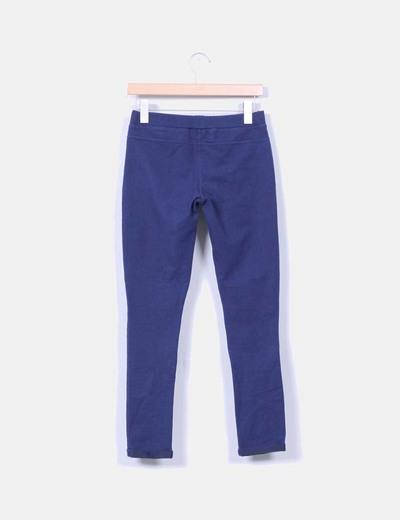 Leggings azul marino texturizado