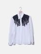 Chemise blanche et noire vintage NoName