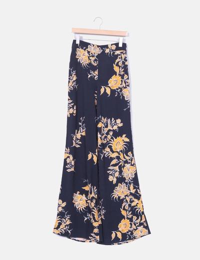 pantalones de pata elefante zara
