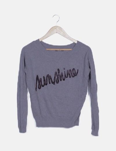 Jersey tricot gris marengo print mensaje