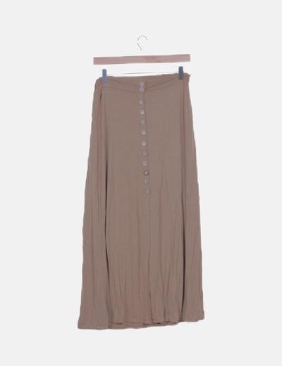 Maxi falda marrón con botones