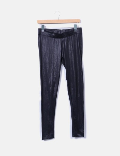 Legging negro satinado Zara