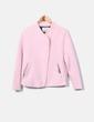 Chaquetón de rizo rosa Zara
