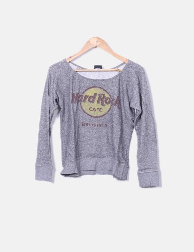 Hard Rock Café Graues feines Sweatshirt (Rabatt 61 %) - Micolet 149e67fe50