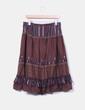 Falda marrón combinada con puntilla NoName