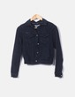 Giacca di jeans nera Pull&Bear