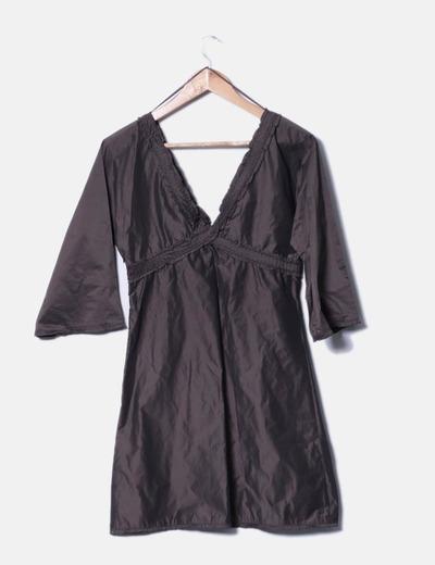 Vestido midi marron (1)