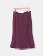 Falda midi color vino LUMI