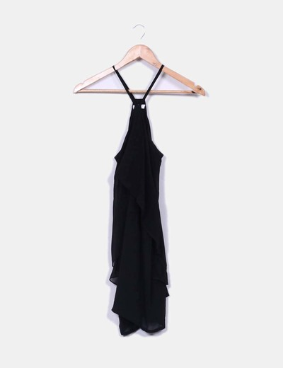 Vestido capa negro Hoss Intropia