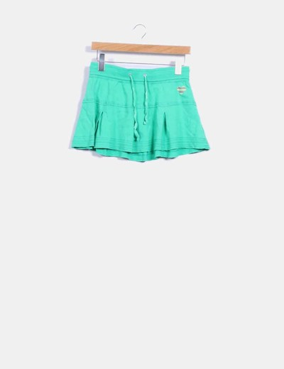 Mini falda verde de vuelo Denim Co.