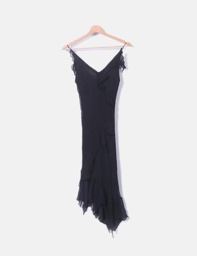 Vestido gasa negro