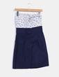 Vestido azul marino combinado print floral Suiteblanco