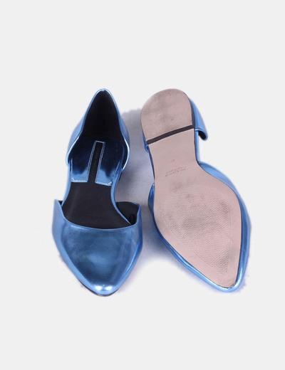 c582ce70 Zara Bailarinas azul metalizado (descuento 84 %) - Micolet