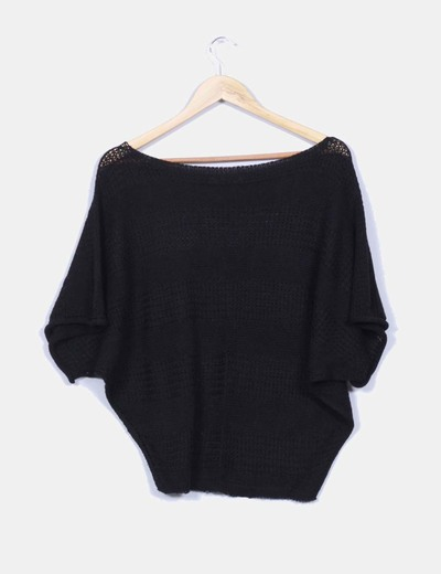Jersey de punto negro oversize