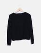 Pull de Noël en tricot noir New Look