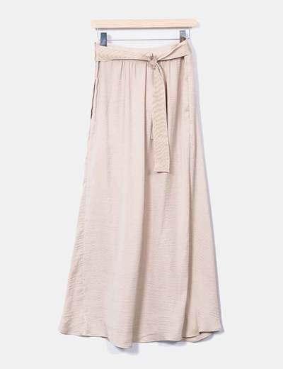 e08ed47eb Maxi falda beige