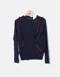 Suéter tricot azul marino volantes VILA