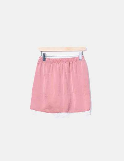 f18d5c310 Falda lencera satén rosa