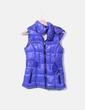 Chaleco acolchado azul con capucha Bershka
