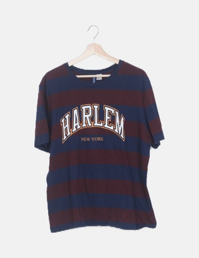 Camiseta rayas bicolor print