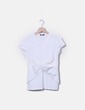 Camiseta blanca cruzada Adolfo Dominguez