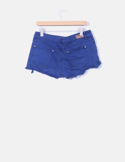 Short con tachas azul marino