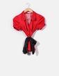Blusa satinada roja con corazones Suiteblanco