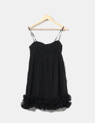 Robe noire avec motif floral H&M
