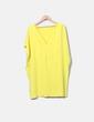 Robe jaune double couche de taille à volants Pedro del Hierro