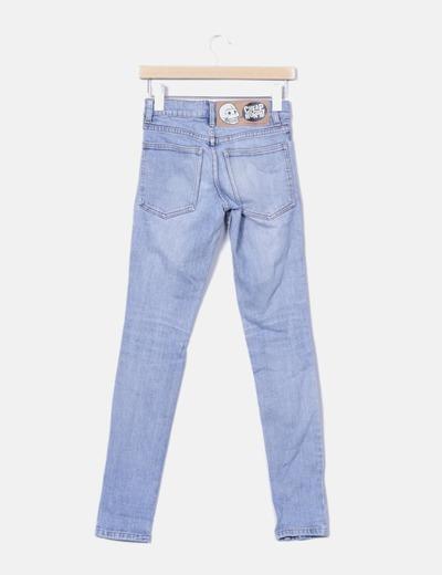 Jeans denim azul medio