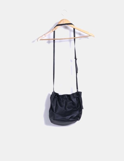 Bolso de piel saco negro