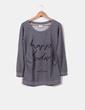 Sweat-shirt gris de maternité avec lettres Mamalicious
