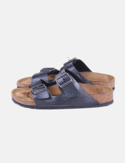Birkenstock Fibbie di sandalo in similpelle nera (sconto 75%) - Micolet 17121b03a23