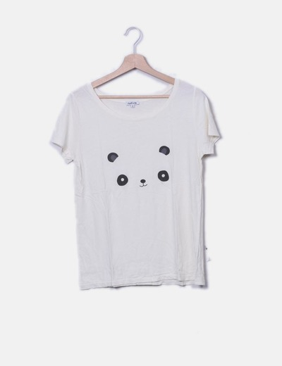 T-shirt beige ours Natura