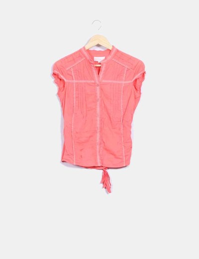 Camisa naranja con bordados Suiteblanco