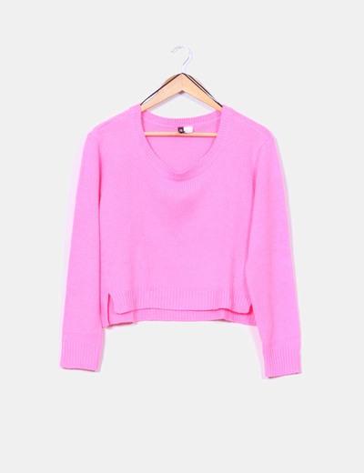 Jersey de punto inglés rosa flúor H&M