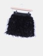 Falda negra de plumas TRENDY THINGS