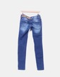 Jeans denim desigual ripped bordado Desigual