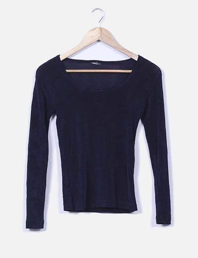 Suéter elástico azul marino NoName