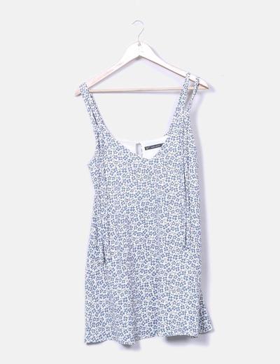 Vestido print floral tirantes Zara