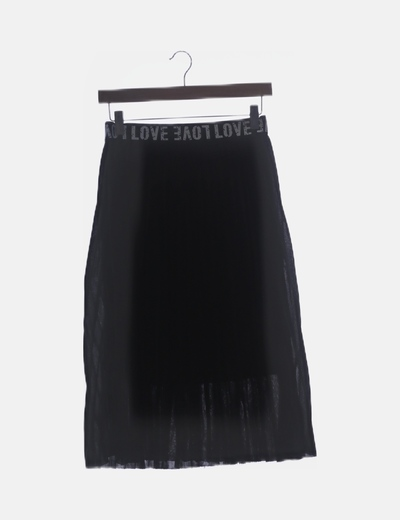 Falda negra tablas