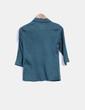 Blusa verde con chorreras Adolfo Dominguez
