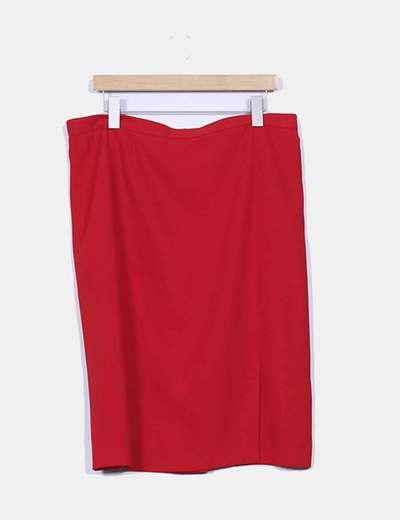 Falda roja lisa El Corte Inglés