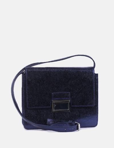 Bolso cuadrado azul glitter