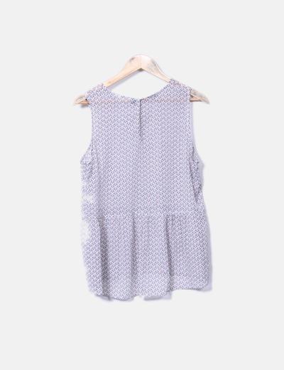 Blusa floral de gasa