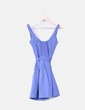 Vestido azul con vuelo Bershka
