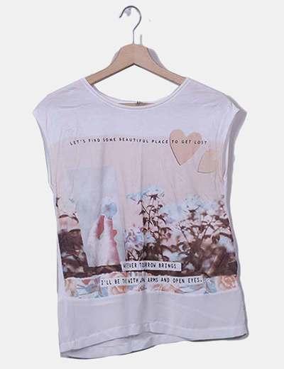Camiseta cruda estampado con frase