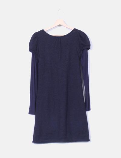 Vestido azul marino de punto